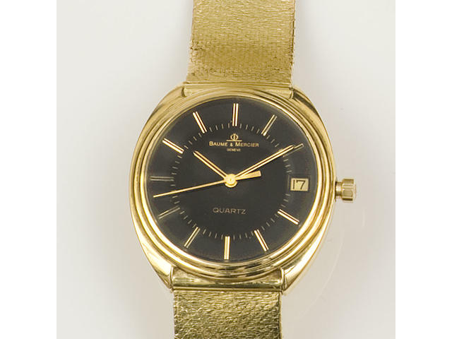 Baume & Mercier: A gentleman's 18ct gold wristwatch