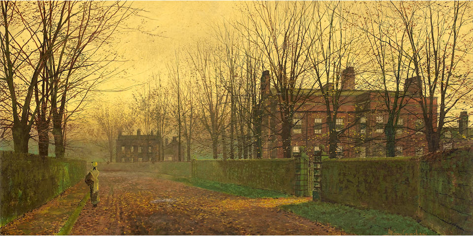 John Atkinson Grimshaw (British, 1836-1893) Autumn Afterglow