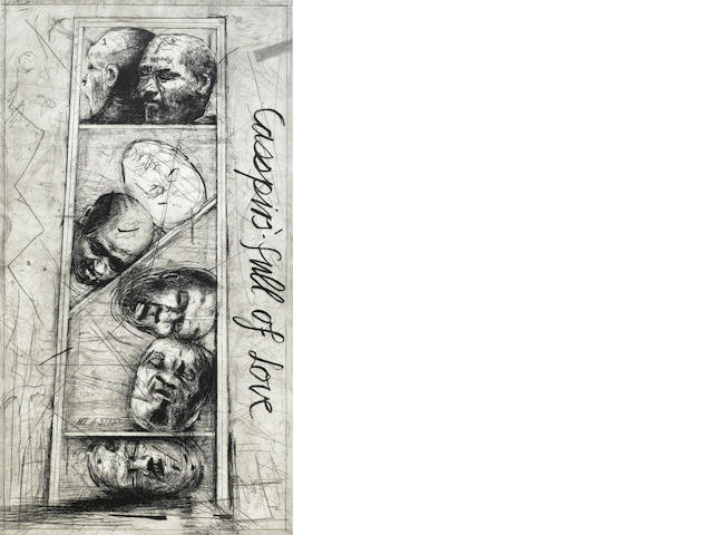 William Joseph Kentridge (South African, born 1955) 'Casspirs full of Love' 1989 artist's Proof