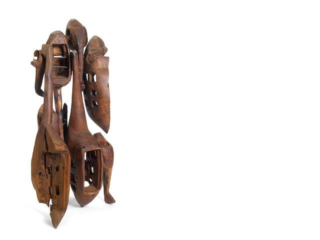 El Anatsui (Ghanaian, born 1944), El Anatsui Sculpture 2 - Helicopter 109 x 47 x 47cm (42 15/16 x 18