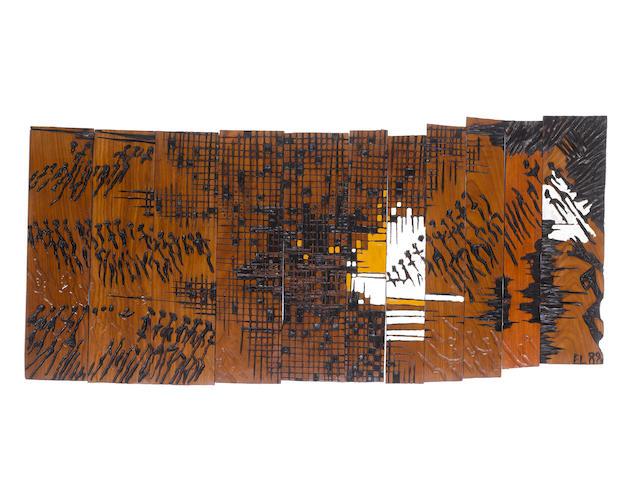 El Anatsui (Ghanaian, born 1944) Adherents II, 1989