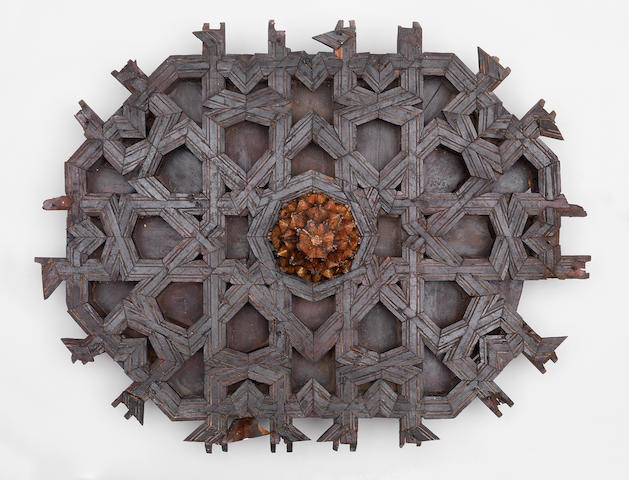 A jointed coffered wood Ceiling Panel North Africa or Spain, probably 14th Century(2)