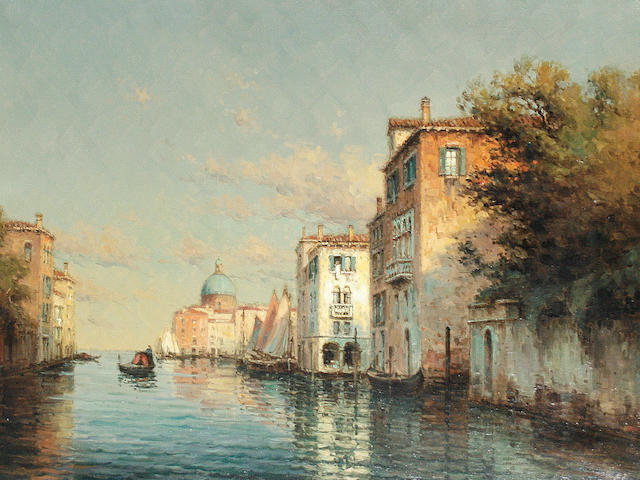 Noel Georges Bouvard (French, 1912-1975) Canal scene, Venice
