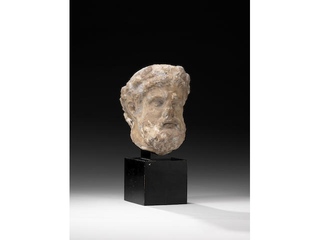 A Roman head of hercules