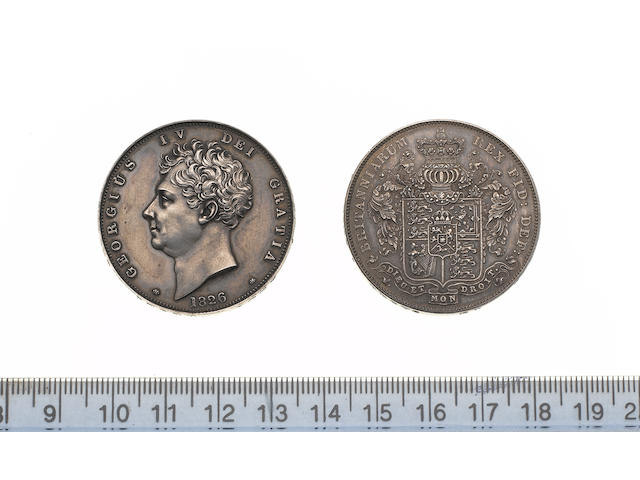 George IV, Proof Crown, 1826, bare head left,