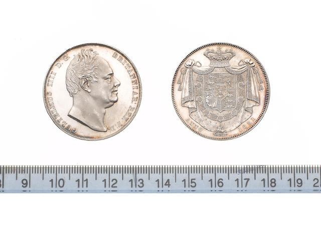 William IV, 1830-7, Proof Crown, 1831, bare head right, W.W. on truncation,