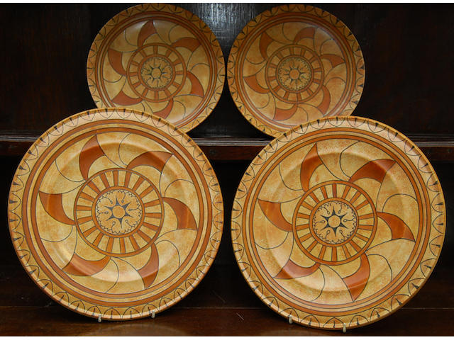 A pair of Charlotte Rhead chargers