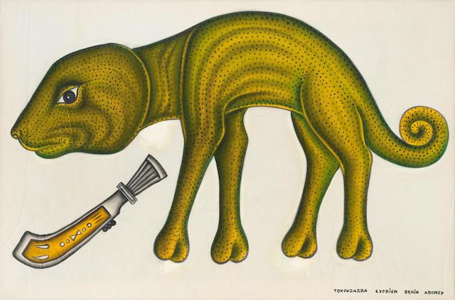 Cyprian  Tokoudagba Chameleon unframed