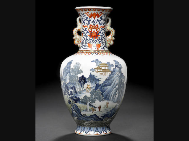 An extremely fine cloisonné enamel vase By Hayashi Tanigoro of Nagoya, late Meiji/Taisho Period