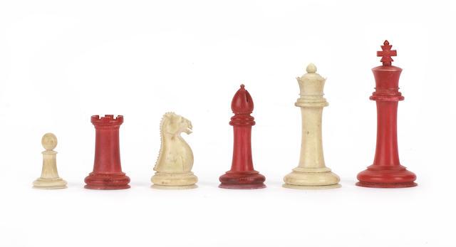 "A ""Staunton Pattern"" ivory chess set, Canton, circa 1820,"