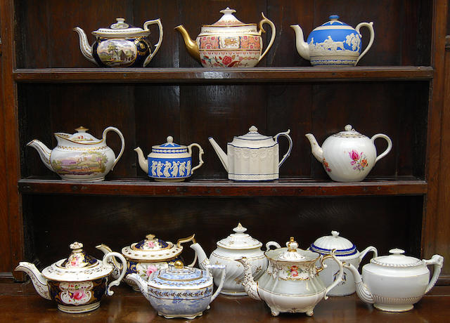 A collection of teapots