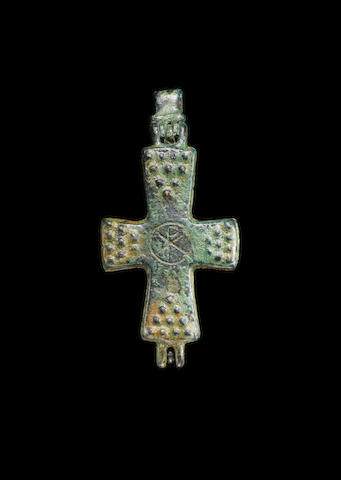 An Early Byzantine bronze reliquary cross
