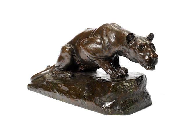 Lionne au guet by Gardet - for Dubai sale
