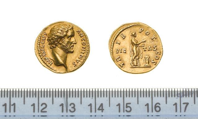 Antonius Pius (AD 138-161), AV Aureus, 7.3g, IMP.TAEL.CAES ANTONINUS, bare head right,
