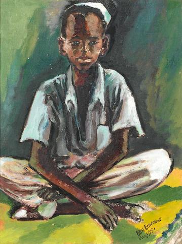 Benedict Chukwukadibia Enwonwu, M.B.E (Nigerian, 1917-1994) Portrait of a young boy