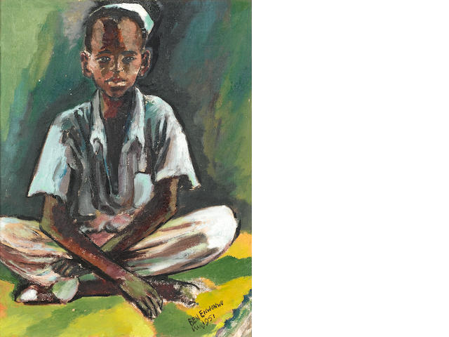Benedict Chukwukadibia Enwonwu, M.B.E (Nigerian, 1921-1994) Portrait of a young boy