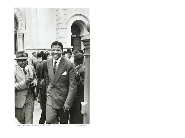 Jürgen Schadeberg (South African, born 1931) Nelson Mandela during the Treason Trial, Pretoria, 1958