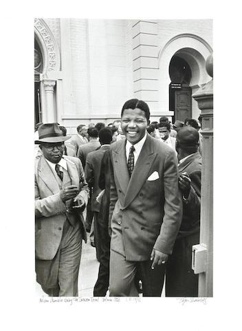 Jürgen Schadeberg (South African, born 1931) Nelson Mandela during the Treason Trial, Pretoria, 1958 unframed