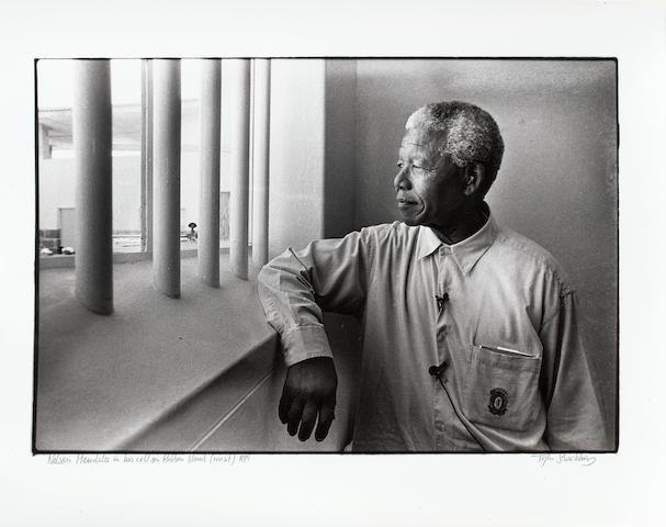Jürgen Schadeberg (South African, born 1931) Nelson Mandela, Robben Island, 1994 unframed
