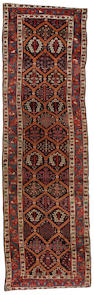 A West Persian runner 12 ft 7 in x 3 ft 8 in (384 x 113 cm)