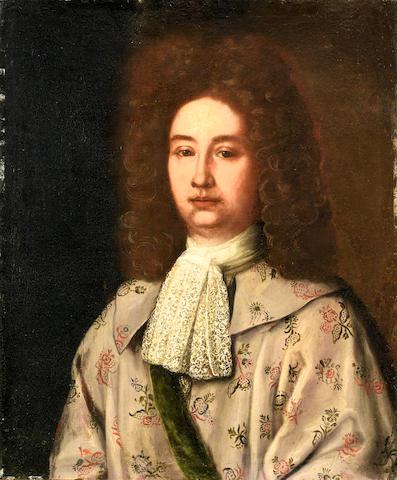 Roman School, 18th Century Portrait of a gentleman, half-length,