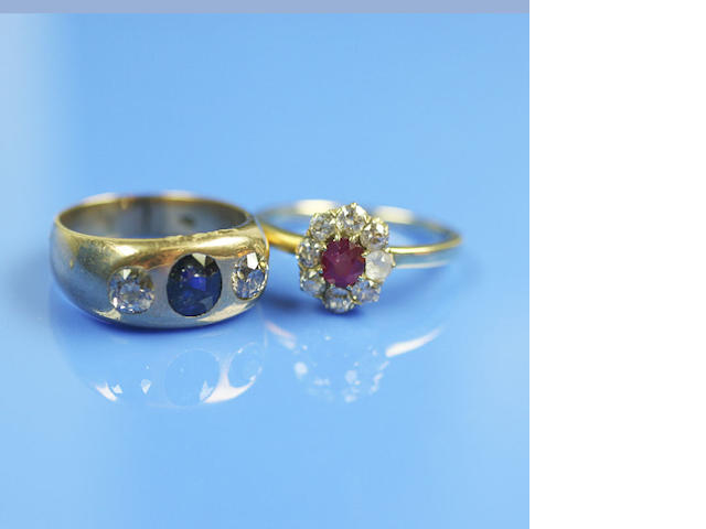A ruby and diamond cluster ring (2)