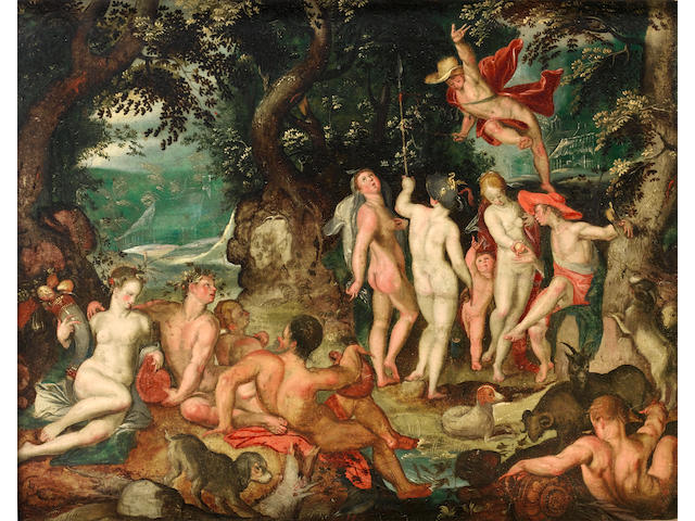 Studio of Joachim Anthonisz. Wtewael (Utrecht 1566-1638) The Judgement of Paris