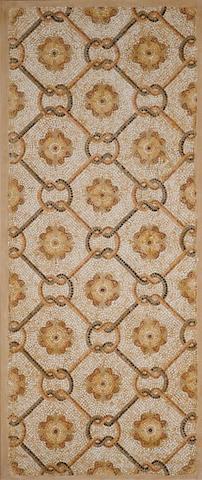 A Roman geometric mosaic panel