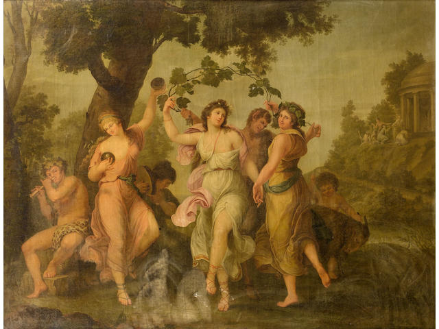 Follower of Angelica Kauffmann (Coire 1740-1807 Rome) A Bacchanale