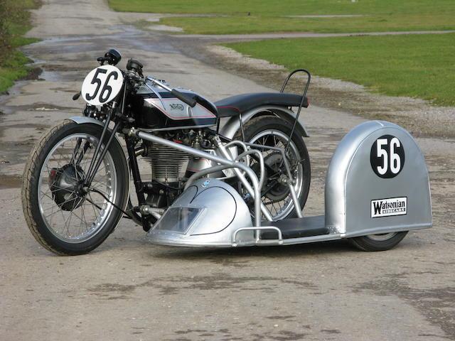 The ex-Pip Harris 1951 Norton 596cc Manx/Watsonian Racing Motorcycle Combination Frame no. E11M 35893 Engine no. D11M 22055