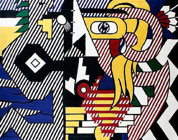 Roy Lichtenstein (American, 1923-1997) 'Amerind Landscape', 1979