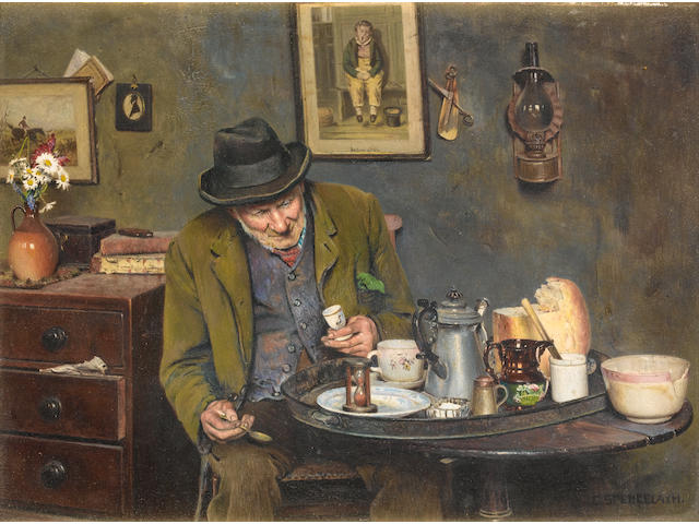 Charles Spencelayh, RMS, HRBSA (British, 1865-1958) Patience