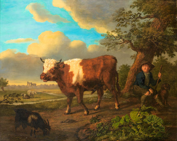 Attributed to Jean-Baptiste de Roy (Brussels 1759-1839) The young herdsman