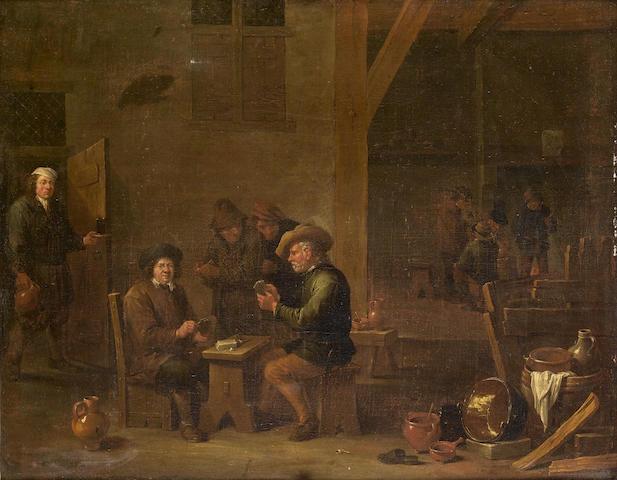 Hendrick Herdebout/Herregouts (Mechelen 1633-circa 1704 Antwerp) A tavern interior