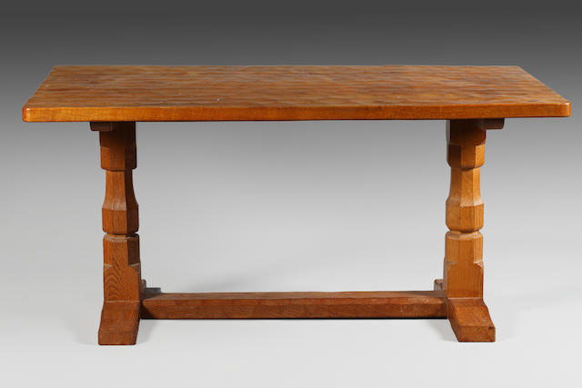 Robert Thompson of Kilburn oak refectory dining table
