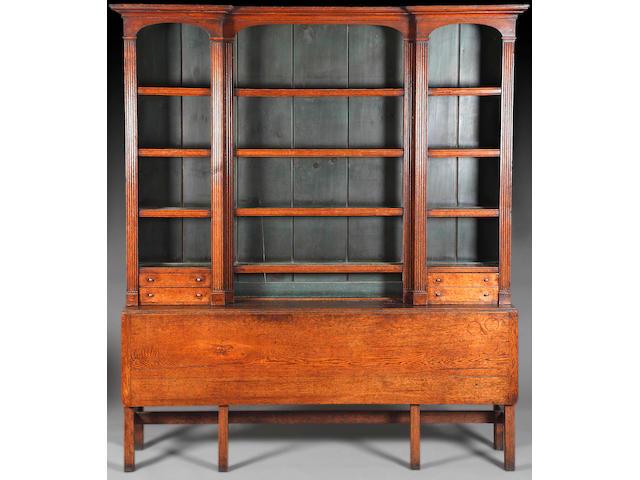 A George III oak composite dresser,