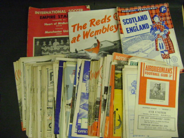 A collection of mainly 1940's and 1950's football programmes