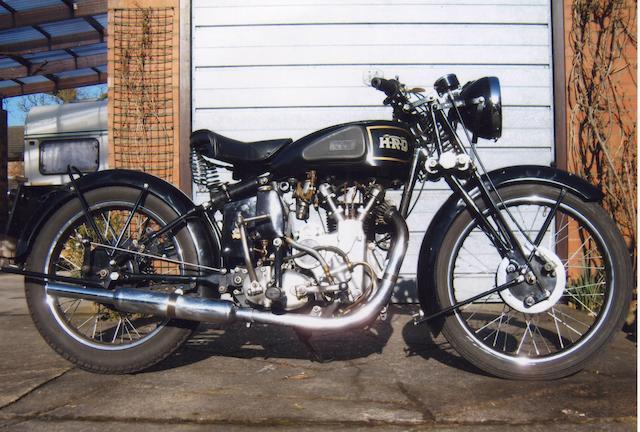 1937 Vincent-HRD 500cc Series-A Meteor Frame no. D1252 Engine no. C935