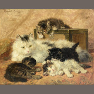 Henriette Ronner-Knip (Dutch, 1821-1909) Remembrance of happy days