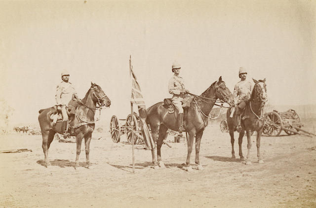 MILITARY. [ENTHOVEN, PERCY.] Diary of the march of the 55th Field Battery R.A., from Ahmedabad to Saugor. [India?: privately printed, c.1898.]