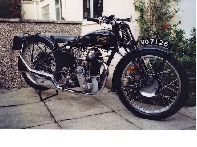 1932 Velocette 349cc KSS Frame no. 410 Engine no. KSS 4836