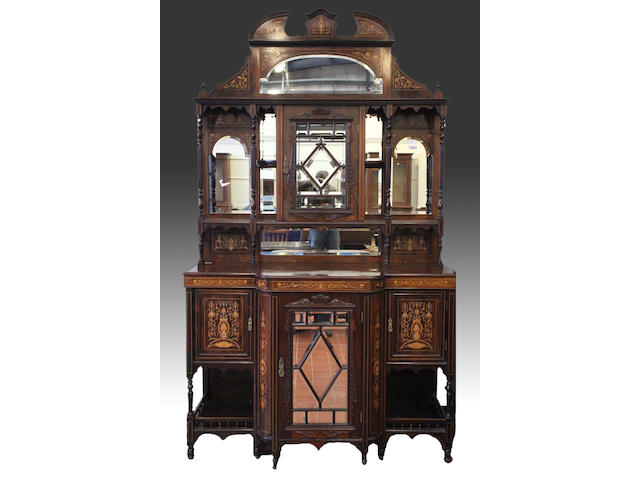 A late Victorian rosewood chiffonier