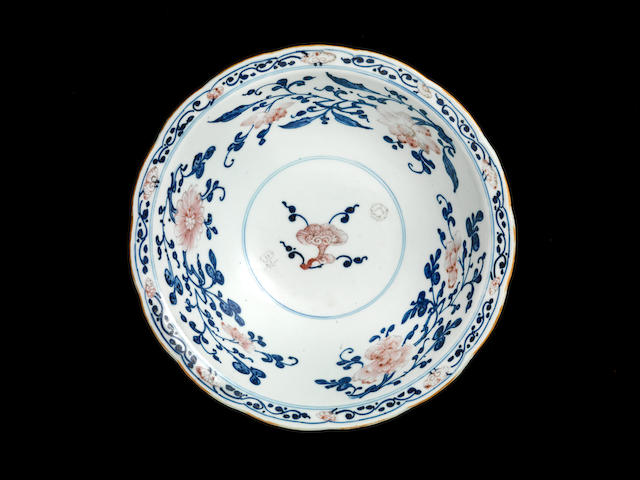 An underglaze-red and blue bowl Qianlong seal mark and of the period