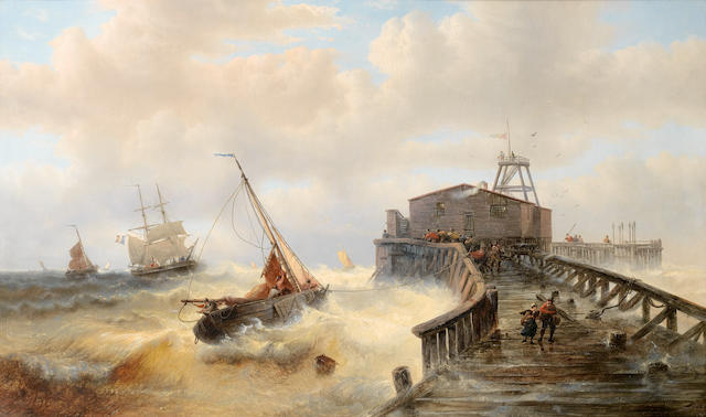 François-Étienne Musin (Belgian, 1820-1888) The return of the fleet, Ostend