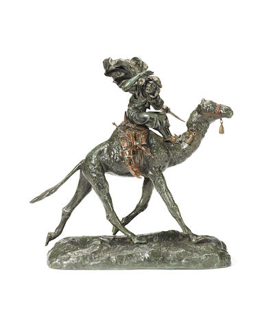Etienne Watrin, French (d.1915) A bronze model of an Arab riding a camel