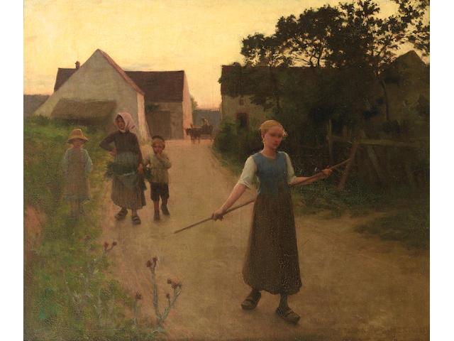 Etienne Azambre (French, 1859-1935) Le retour des champs