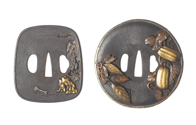 Two kinko tsuba Late Edo and Meiji Period