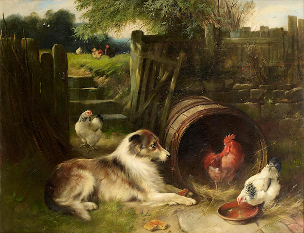 Walter Hunt (British, 1861-1941) Unexpected companions