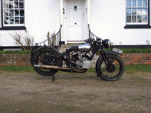 1934 Brough Superior 11-50 Frame no. 8/1354 Engine no. LTZ/D 34932/S
