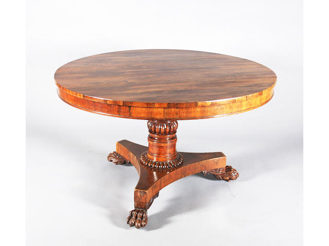 Regency rosewood breakfast table